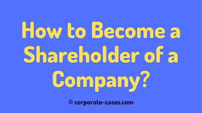 how to become a shareholder of a company