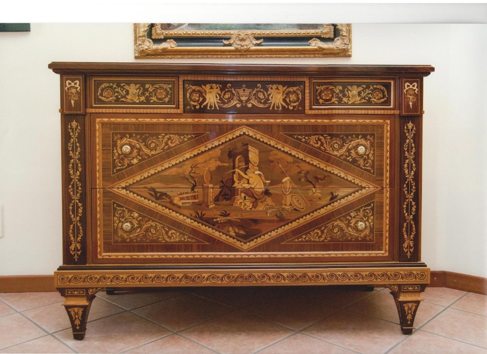 M i a mobili intarsiati artistici in stile mobili in for Mobili antichi