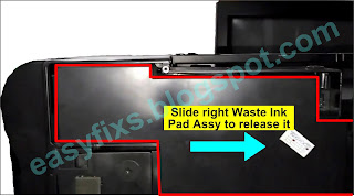 Slide right Waste Ink Pad Assy to release it