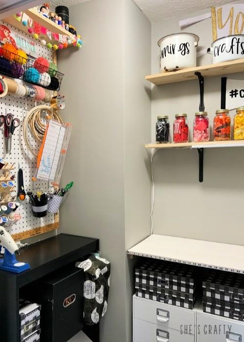 She's Crafty Home Tour |  Craft Room