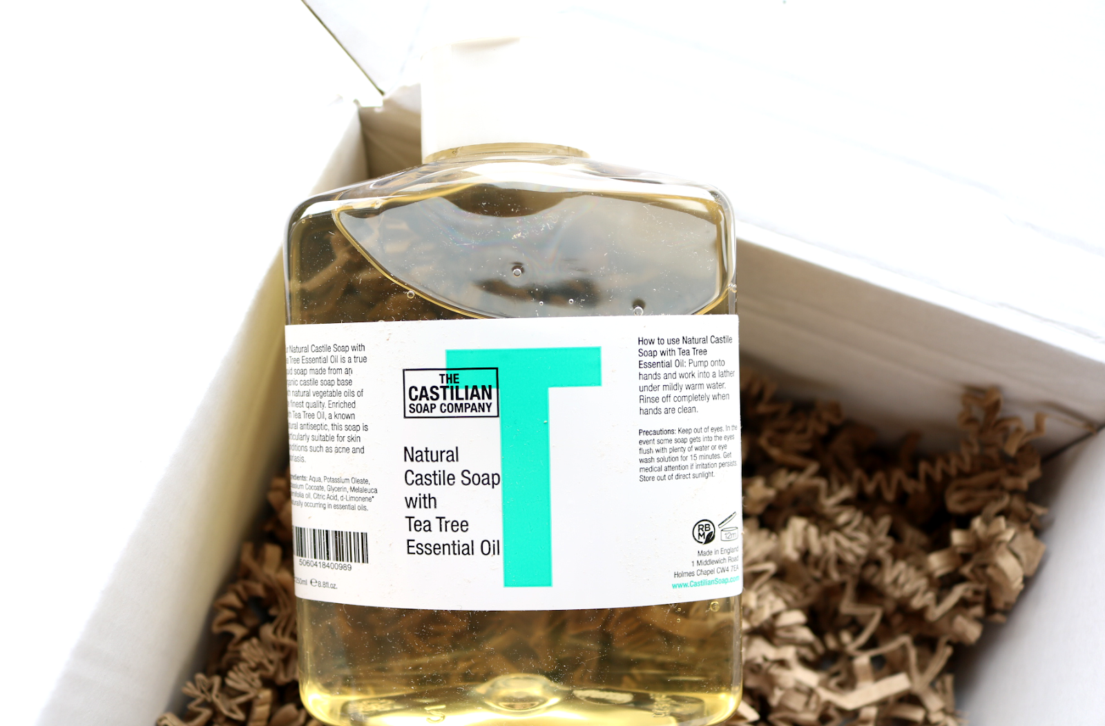 The Castilian Soap Company - Limited Edition Natural Castile Soap with Tea Tree