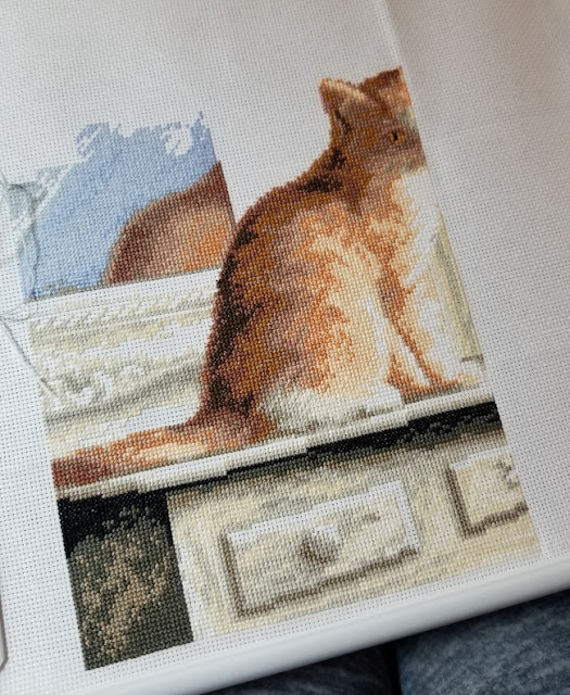 Kitten in the Window Dimensions Cross Stitch