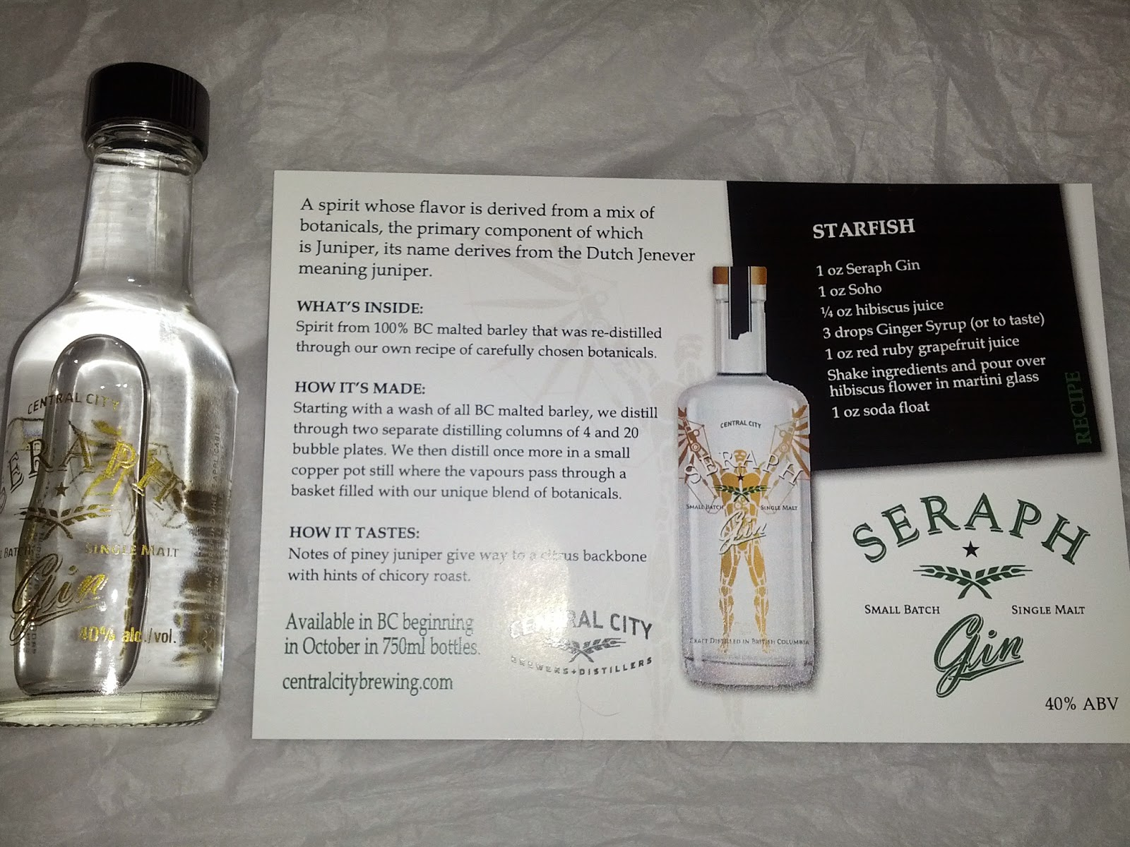 Vanbrosia: Guilt and Company, feat  Seraph Vodka & Gin from
