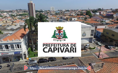 Concurso Prefeitura de Capivari abre 32 vagas e reservas