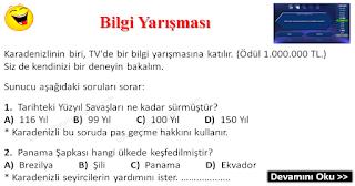 Bilgi Yarışması - Karadeniz Fıkraları - Komikler Burada