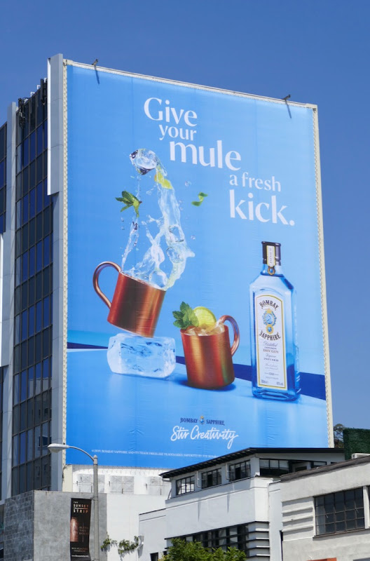 Giant Give your Mule fresh kick Bombay Sapphire gin billboard