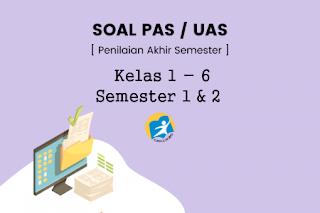 Download Soal UAS/PAS Tematik Kelas 1 - 6 Semester 1 & 2 Dan Kunci Jawaban Terbaru