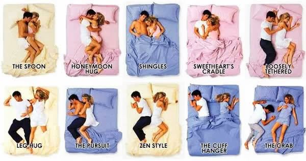 sleeping positions of couples