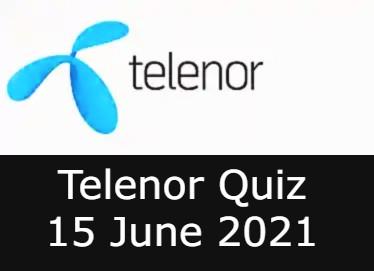 Telenor Quiz Answers 15 June
