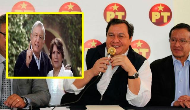 Hace unos días el candidato del PT a la gubernatura del Edomex llamaba a AMLO Medio AUTORITARIO ahora declina a favor de Delfina