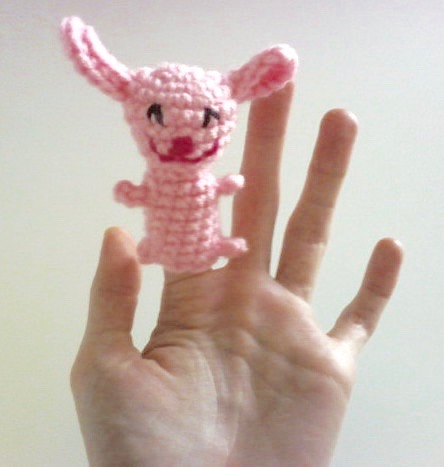 Free Patterns By H Bunny Rabbit Finger Puppet