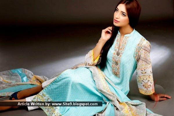 V Lawn Collection 2015 by Vaneeza Ahmad