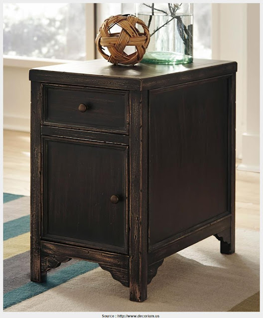 Good Black Side Table With Storage Picture