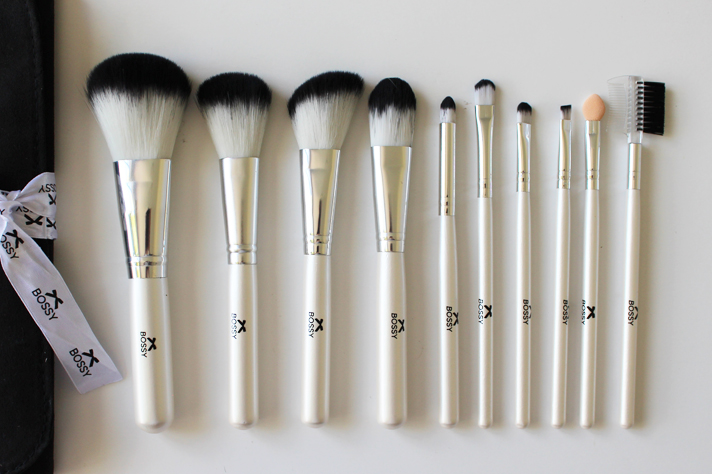 BOSSY COSMETICS // Essential Makeup Brush Collection | Review - CassandraMyee