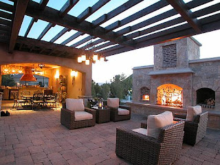 Backyard Fireplace Sets The Outdoor Scene   Home ... on Modern Backyard Fireplace id=63170
