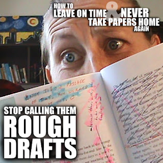 "The 13th installment in our series: How to Leave on Time and NEVER Take Papers Home Again ... In which we're back to go deeper on a topic we mentioned in Episode 20: Rough Drafts. And we're here to share why we stopped calling them ""Rough Drafts."""