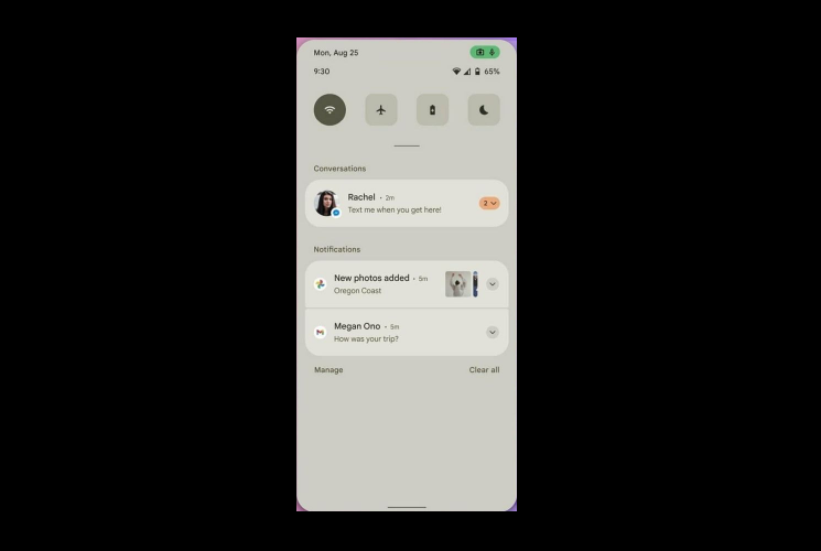 Android 12- Notification Center