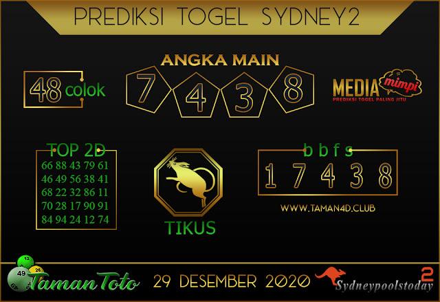 Prediksi Togel SYDNEY 2 TAMAN TOTO 29 DESEMBER 2020