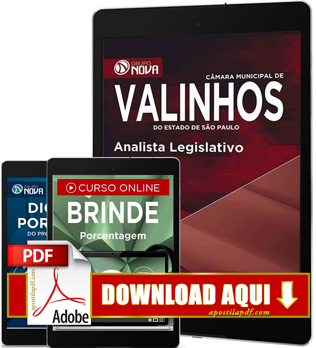Apostila Prefeitura de Valinhos 2016 Analista Legislativo PDF Download