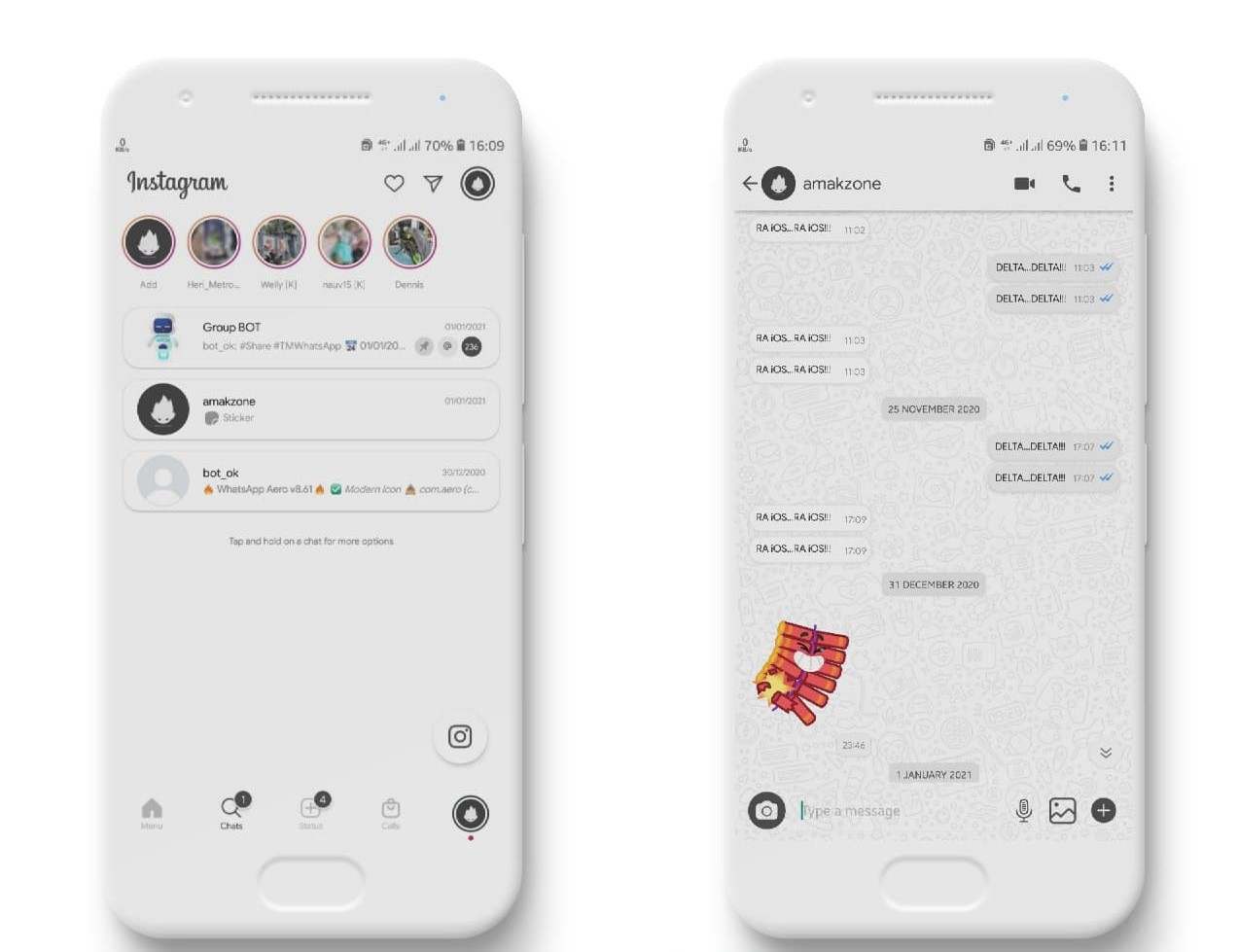 Instagram Theme For YOWhatsApp & Delta WhatsApp By Amakzone   YO ...