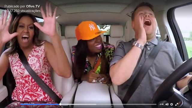 "Assista a Mchelle Obama cantando ""Get Ur Freak On"" junto com Missy Elliott"