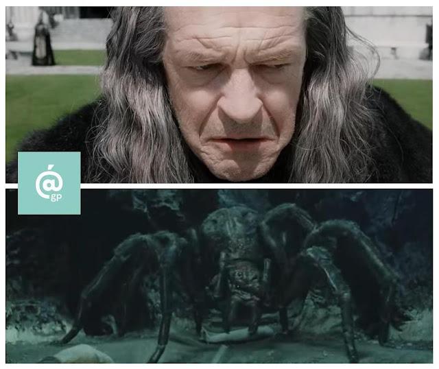Denethor y Shelob - El Señor de los Anillos: Peter Jackson Vs Ralph Bakshi - JRRTolkien - ÁlvaroGP - el fancine - el troblogdita