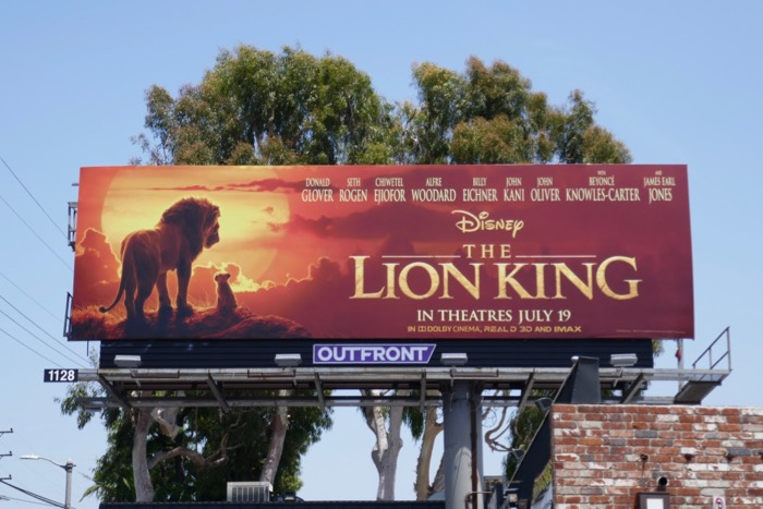 Lion King film billboard
