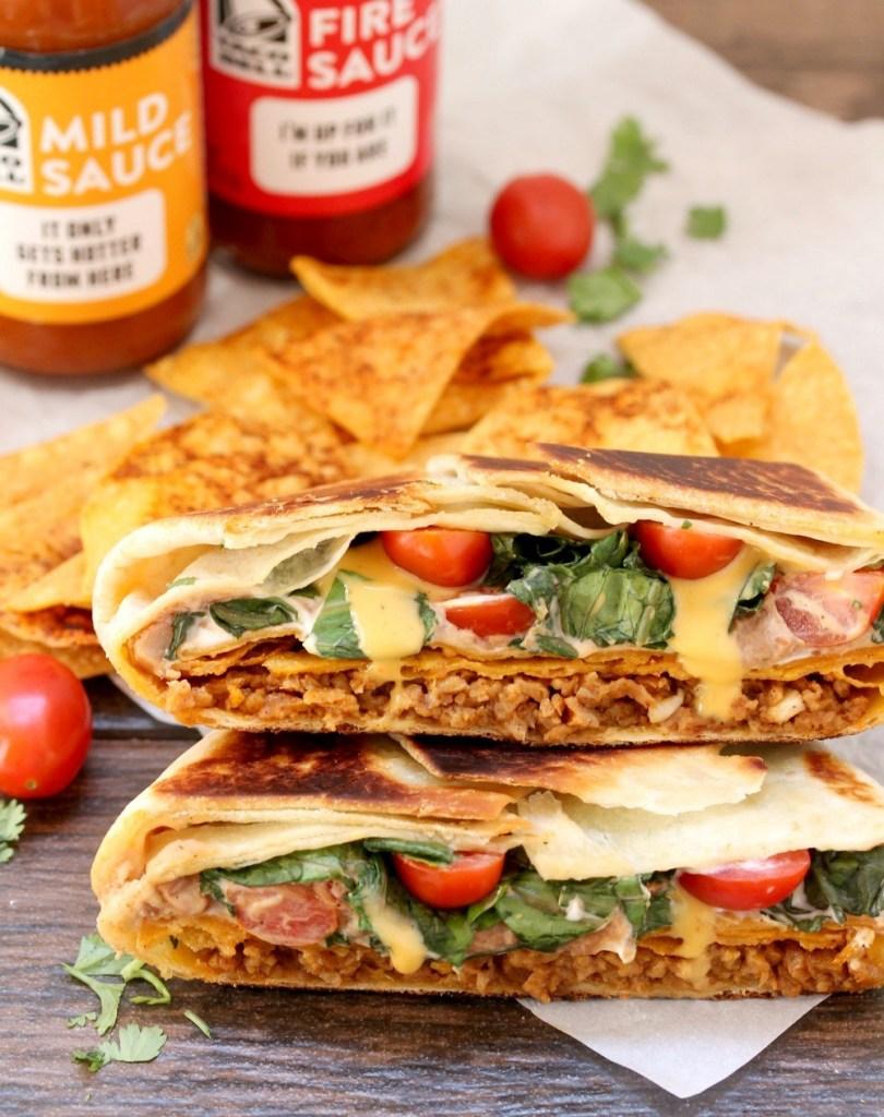 VEGAN CRUNCHWRAP #vegan #breakfast #paleo #keto #healthydiet