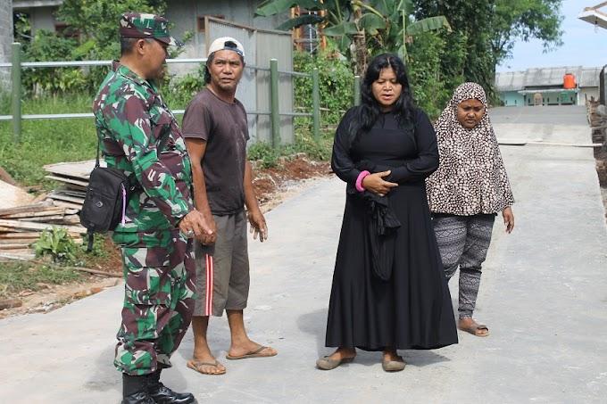 Jalan Makam Kopo Makin Ramai Setelah Dibeton TNI