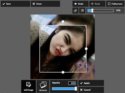 Membuat Efek Square Blur Online