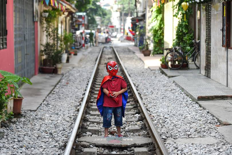 Spiderman. (Photo by Nhac Nguyen)
