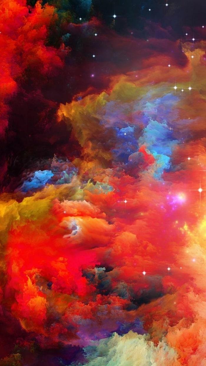 astratto, nebulosa, spazio, Wallpaper, sfondi iPhone,