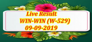 Kerala Lottery Result Today 09/09/2019 WIN-WIN Lottery W-529