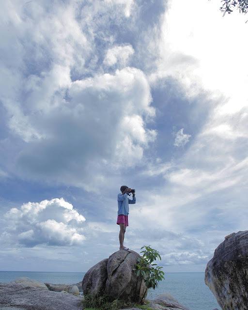 foto pantai parai tenggiri bangka belitung