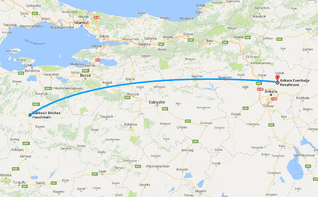 Balıkesir'den Ankara'ya uçak bileti