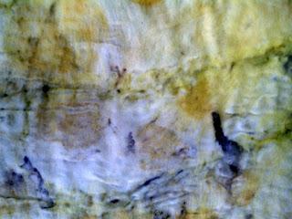 detalhe da feltragem com a lã e tecido de fibra sintética