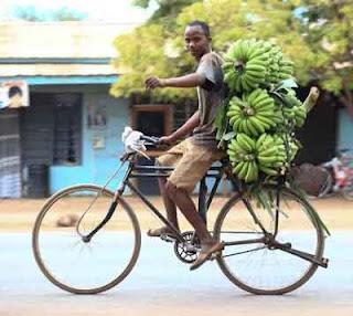 Selling bananas in the Tanzanian Mara region