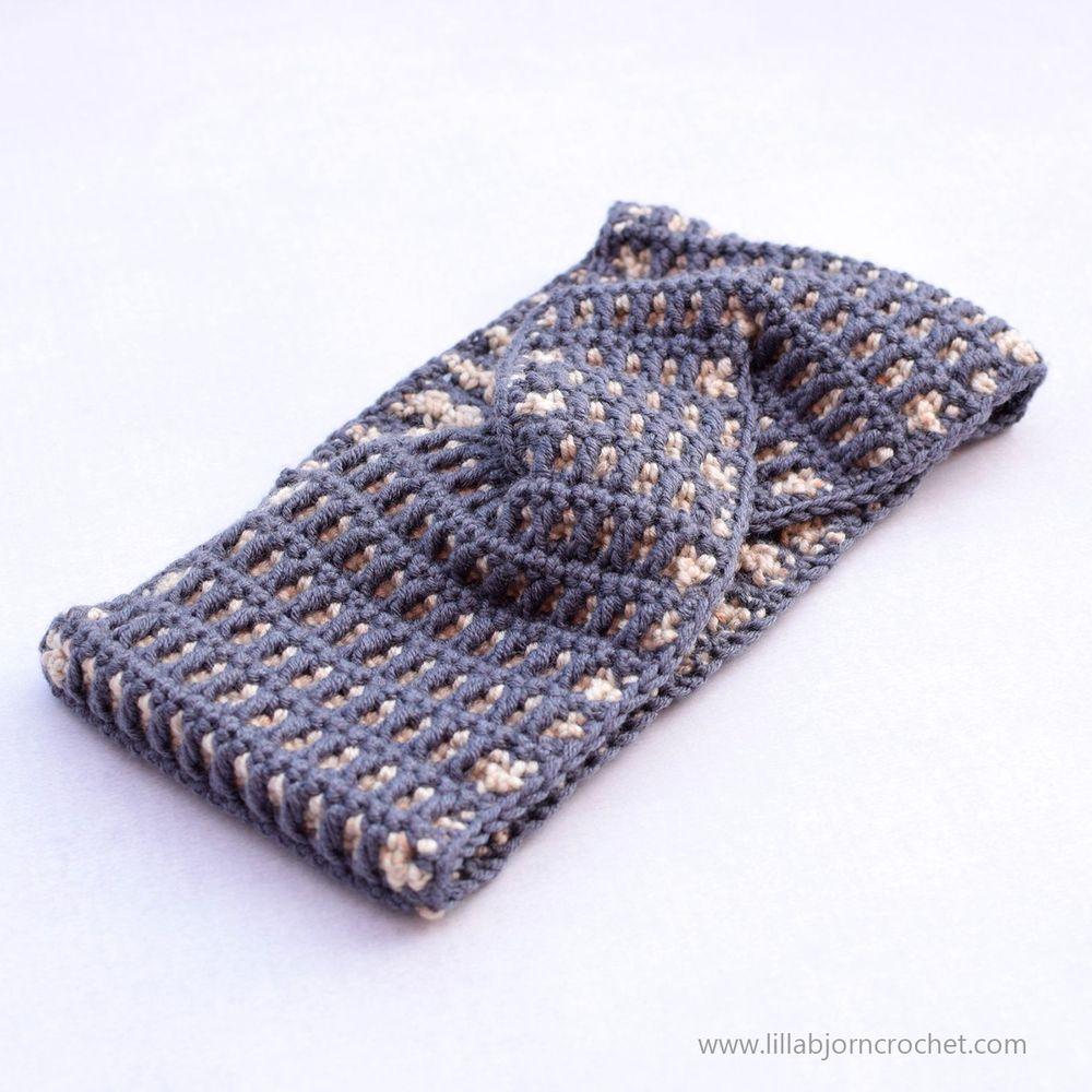 Chocolate Bar Headband_free crochet pattern by www.lillabjorncrochet.com