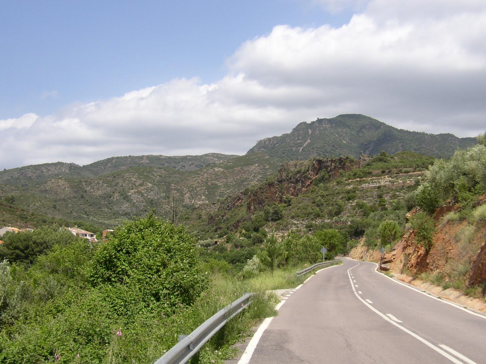 Road in Sierra de Espadán mountain range, Castellón, Valencia
