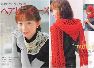 Crochet tejido calado Japonés.Revista