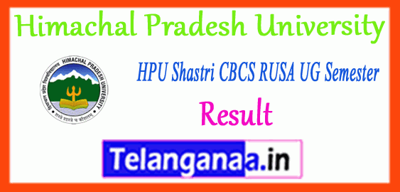 HPU Himachal Pradesh University Shastri CBCS RUSA 1st 3rd 5th UG Semester Result