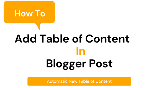 Table of Content (TOC) in Blogger Post