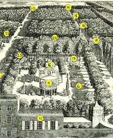 Vauxhall Gardens from an engraving dated 1751  from South London by W Besant (1899) - middle section