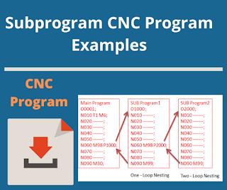 Subprogram CNC Program Examples
