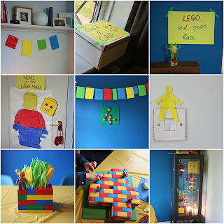 Lego party games decorations