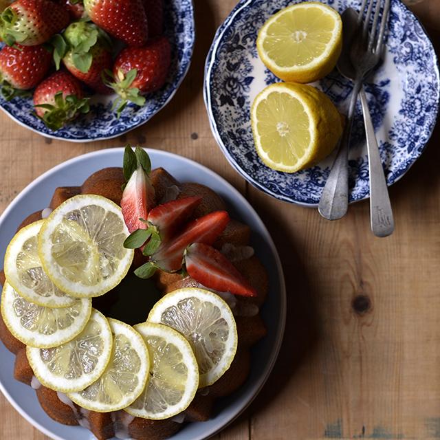 bizcocho de fresas