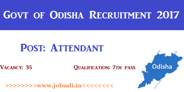 Odisha Govt jobs, 7th pass Govt jobs in Odisha,