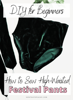 How to sew high waisted festival bottom pants sewing diy tutorial