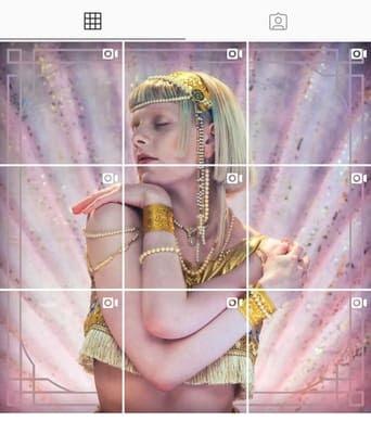 Feed do Instagram da Aurora com imagens que se juntam formando a capa do algum