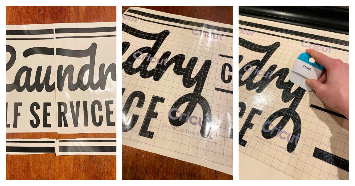 laundry vinyl sign cricut